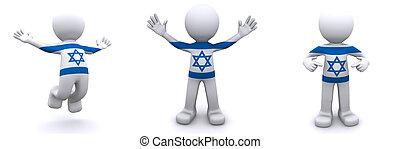 ισραήλ , 3d , χαρακτήρας , σημαία , textured