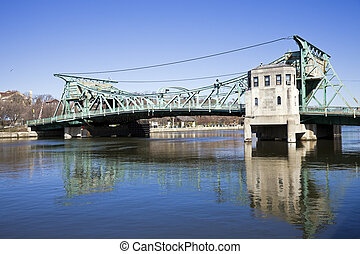 ιστορικός , γέφυρα , μέσα , joliet