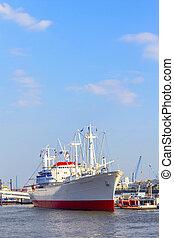 ιστορικός , φορτηγό πλοίο , san diego , μέσα , αμβούργο