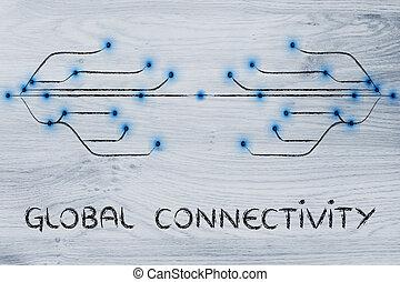 ιστός , ίνα , connectivity , οπτικός , σχεδιάζω , διαμέσου