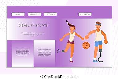 ιστός , αναπηρία , αγώνισμα , σελίδα