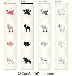 ιστός , θέτω , αισθησιακός , illustration., απεικόνιση , σύμβολο , συλλογή , μικροβιοφορέας , ζώο , παιχνίδι , design., unrealistic, γελοιογραφία , στοκ