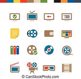 ιστός , κινηματογράφοs , συλλογή , απεικόνιση