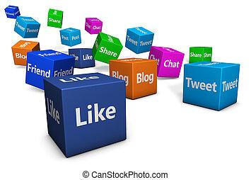 ιστός , κοινωνικός , δίκτυο , αναχωρώ