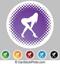 ιστός , κουμπί , χορευτής , απομονωμένος , φόντο.