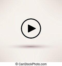 ιστός , παίζω , illustration., κουμπί , απομονωμένος , μικροβιοφορέας , εικόνα