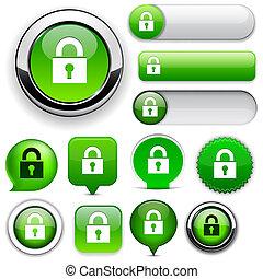 ιστός , προστατεύω , high-detailed, collection., κουμπί