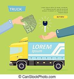 ιστός , banner., αυτοκίνητο , sale., μικροβιοφορέας , φορτηγό , online., εξαγορά