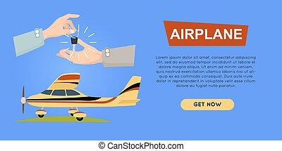ιστός , banner., sale., αεροπλάνο , αεροπλάνο , online., εξαγορά