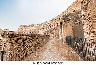 ιταλία , εσωτερικός , - , κολοσσαίο , ρώμη , δίδρομος