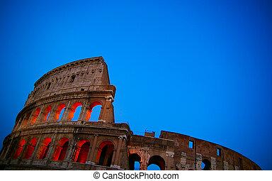 ιταλία , κολοσσαίο , ρώμη , λυκόφως