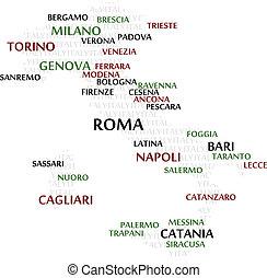 ιταλία , λέξη , σύνεφο , χάρτηs