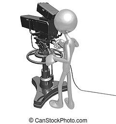 κάμερα τηλεόρασης , στούντιο