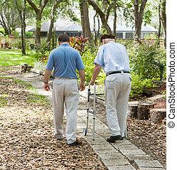 κάνω βόλτα , αναμμένος άρθρο ασχολούμαι με κηπουρική