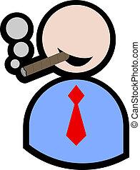 κάπνισμα , ανδρείκελο