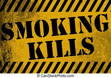 κάπνισμα , βάφω κίτρινο γαλόνι , απορρίπτω , σήμα