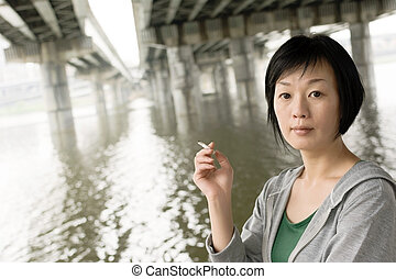 κάπνισμα , γυναίκα