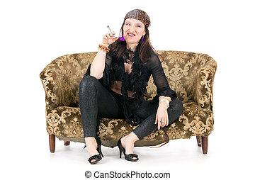κάπνισμα , γυναίκα , χίπης