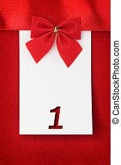 κάρτα , αριθμητική 1 , χαιρετισμός , κόκκινο