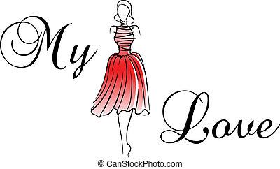κάρτα , γυναίκα , χαιρετισμός , κόκκινο , ανώνυμο ερωτικό γράμμα
