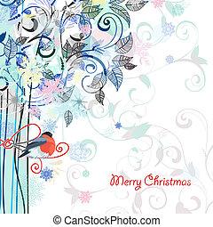 κάρτα , διακοσμητικό μοτίβο , δέντρο