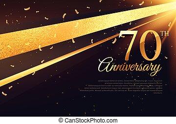 κάρτα , επέτειος , 70th, φόρμα , εορτασμόs