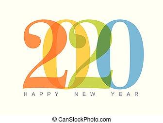 κάρτα , ευτυχισμένος , μικροβιοφορέας , μοντέρνος , minimalistic , έτος , καινούργιος