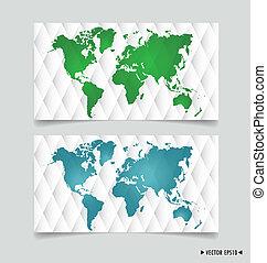 κάρτα , με , κόσμοs , map., μικροβιοφορέας , illustration.