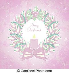 κάρτα , στεφάνι , xριστούγεννα , εύθυμος