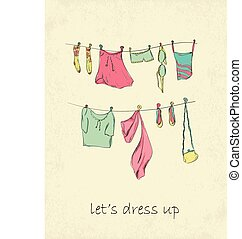 κάρτα , clothes.
