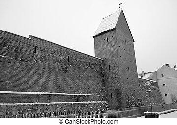κάστρο , γριά , wall.