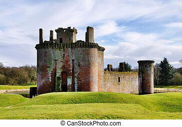 κάστρο , dumfries, galloway., caerlaverock