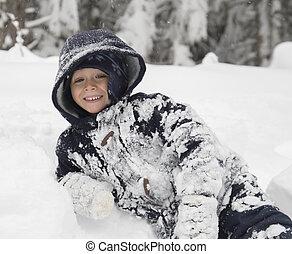 κάτι ασήμαντο άπειρος , χιόνι , παίξιμο