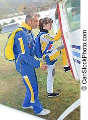 κάτι ασήμαντο αεροπλάνο , skydivers , αποκτώ