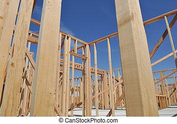 κάτω από , πάνω , καινούργιος , δομή , σπίτι , κλείνω