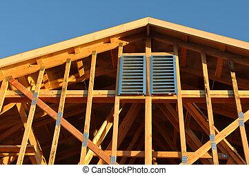 κάτω από , πάνω , οροφή , δομή , σπίτι , κλείνω , καινούργιος