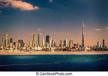 κάτω στην πόλη , ενωμένος , άραβας , γραμμή ορίζοντα , emirates , dubai