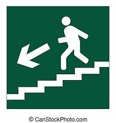 κάτω , σύμβολο , μετάβαση , σκάλεs , άντραs