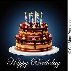 κέηκ, κερί, γενέθλια