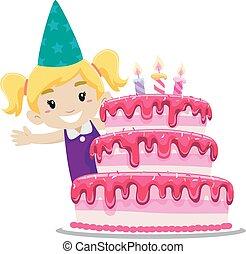 κέηκ , κορίτσι , γενέθλια