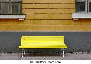 κέντρο της πόλης , χέλσινκι , πάνω , κίτρινο , πάγκος , πορτοκάλι , wall.