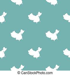 κίνα , χάρτηs , πρότυπο , seamless, μπλε