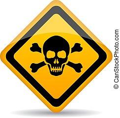 κίνδυνοs , μικροβιοφορέας , κρανίο , σήμα