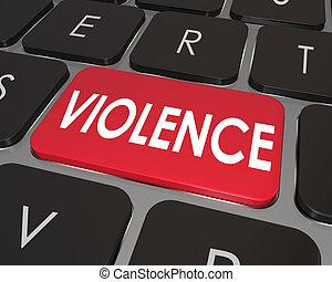 κίνδυνοs , πληκτρολόγιο , κουμπί , βία , ηλεκτρονικός εγκέφαλος απάντηση , online , κόκκινο