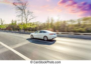 κίνηση , αυτοκίνητο , αμαυρώ , οδήγηση , δρόμοs