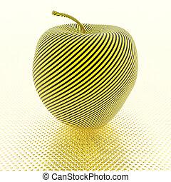 κίτρινο , μήλο , πλοκή , γραμμή