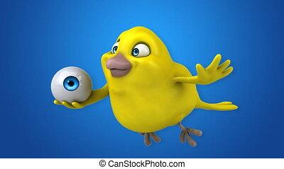 κίτρινο πουλί