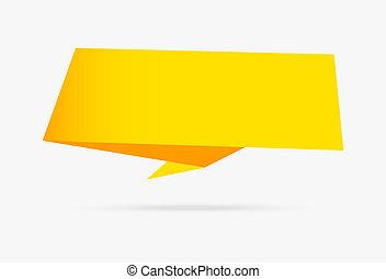 κίτρινο , σημαία , origami , ταινία , χαρτί , infographic, συλλογή , απομονωμένος , αναμμένος αγαθός , φόντο