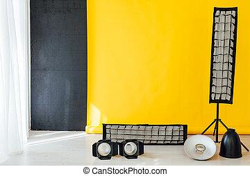 κίτρινο , φωτογραφία , φόντο , δωμάτιο , εξοπλισμός , στούντιο