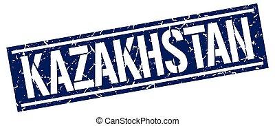 καζακστάν , γαλάζιο γνήσιος , γραμματόσημο